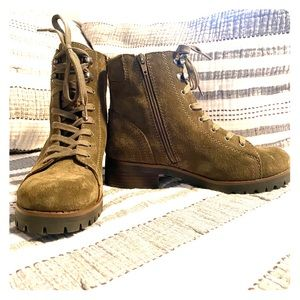 Brand New Olive suede booties size 8